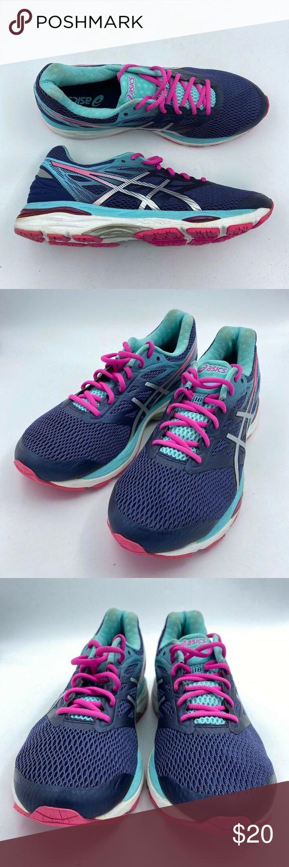 Asics Womens Gel Cumulus 18 Running Shoes 12 Running Shoes Asics Shoe Height