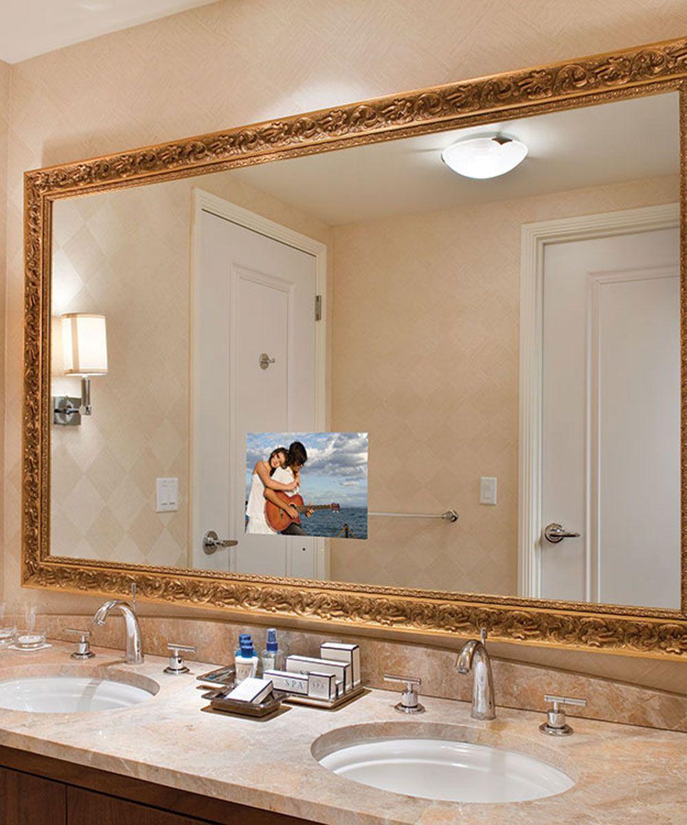 stanford bathroom mirror tv at the trump las vegas
