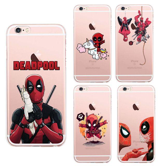 Coque iPhone 8 Plus Deadpool Licorne Fluffy