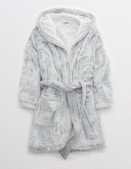 Aerie Fuzzy Sherpa Robe Fuzzy Robe Womens Robes Women
