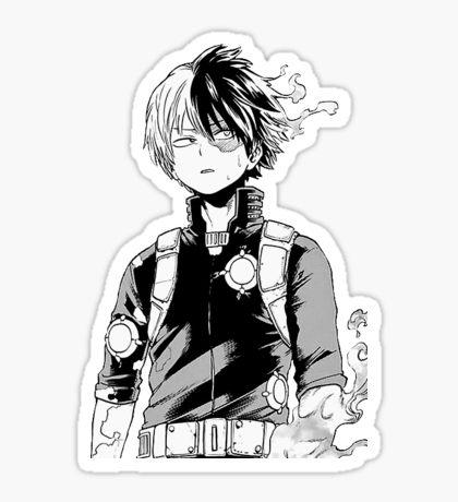 Shoto Todoroki Gifts Merchandise Anime Printables Cute Stickers Anime Stickers