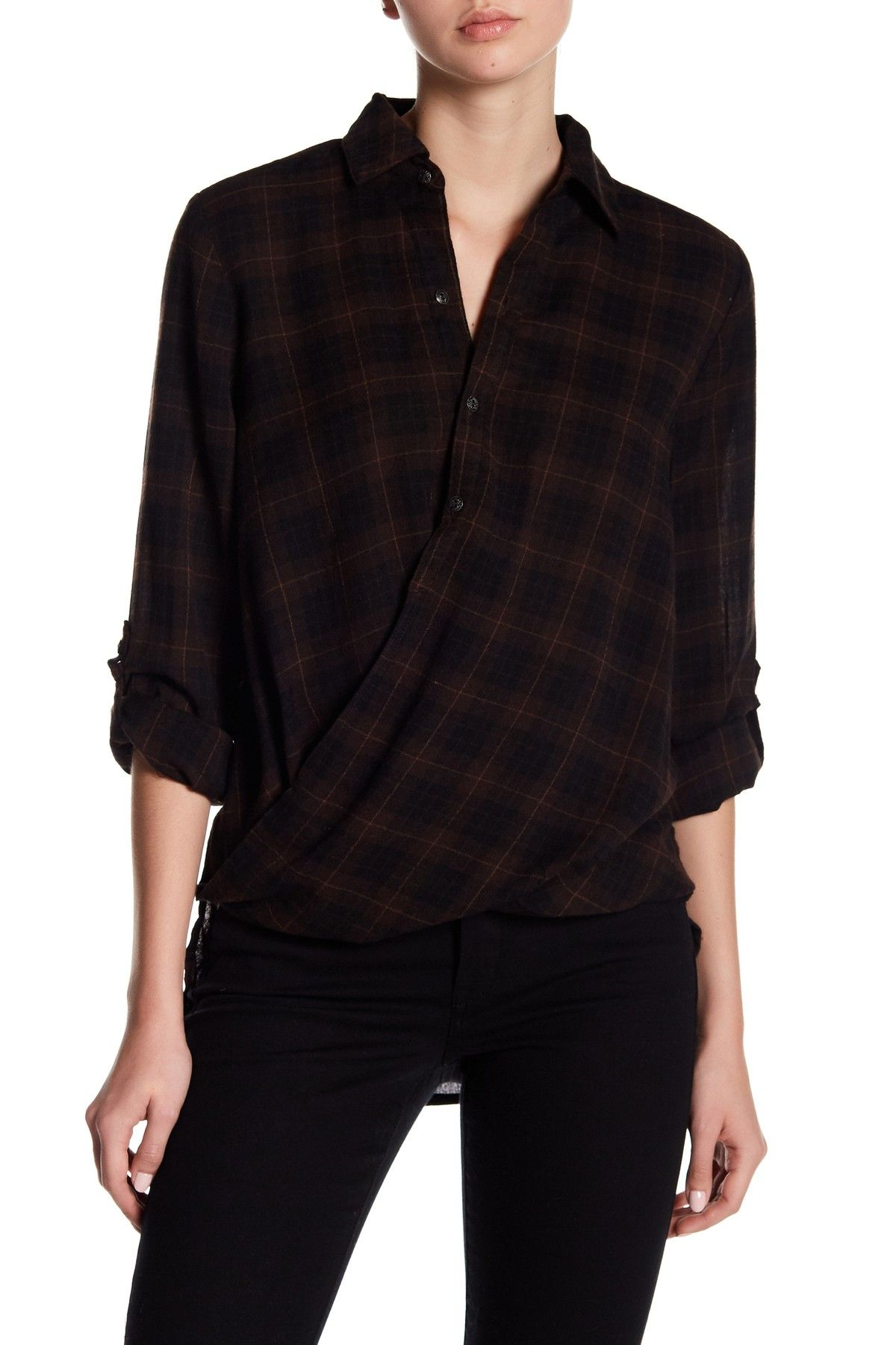 08d115e017a2 Plaid Surplice Button Down Shirt by BLANKNYC Denim on  nordstrom rack