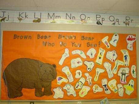 Brown Bear, Brown Bear Who Do You See? Beginning of the year bulletin board idea!