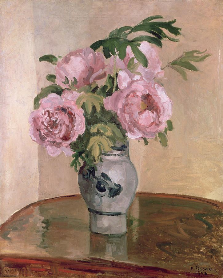 A Vase Of Peonies Painting A Vase Of Peonies Fine Art Print For