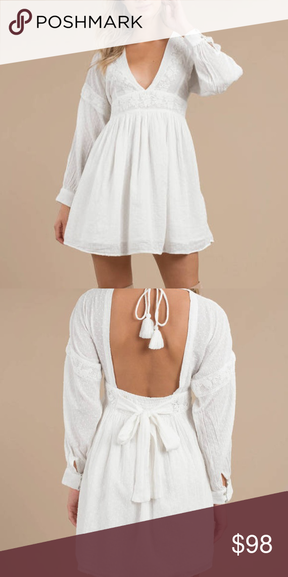 V-Neck Babydoll Dress