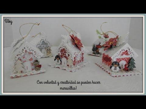 455 Casitas Navidenas De Carton Navidad 2018 Youtube Manualidades Navidenas Decoracion Navidena Manualidades