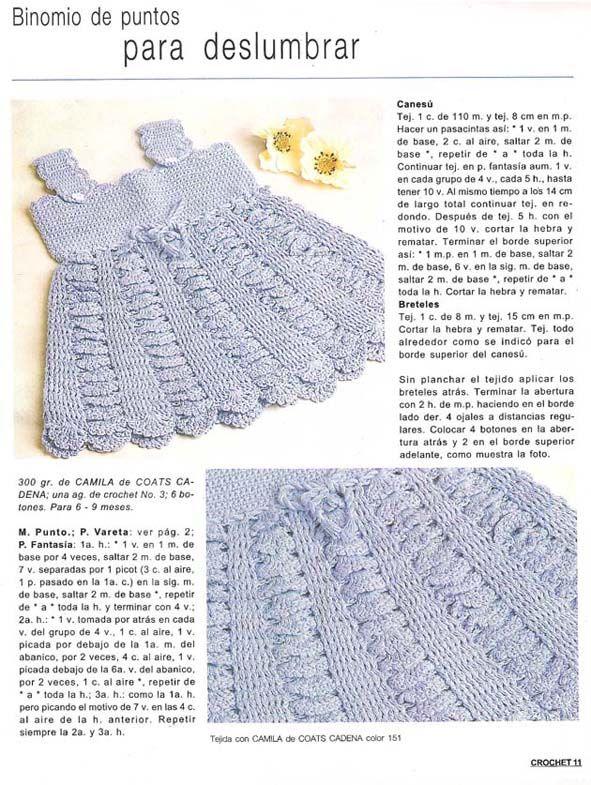 Patron de vestidos en crochet para bebés - Imagui | Vestir Crochet ...
