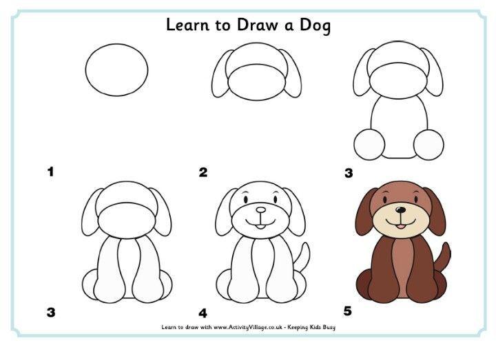 Cómo Dibujar Un Perro A Dibujar En 2019 Drawings Easy Drawings