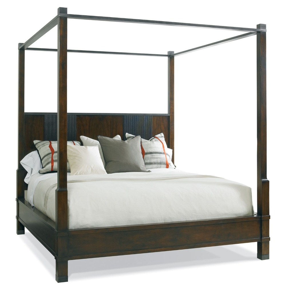 Brentwood Poster Bed King Hickory White 25521R (With