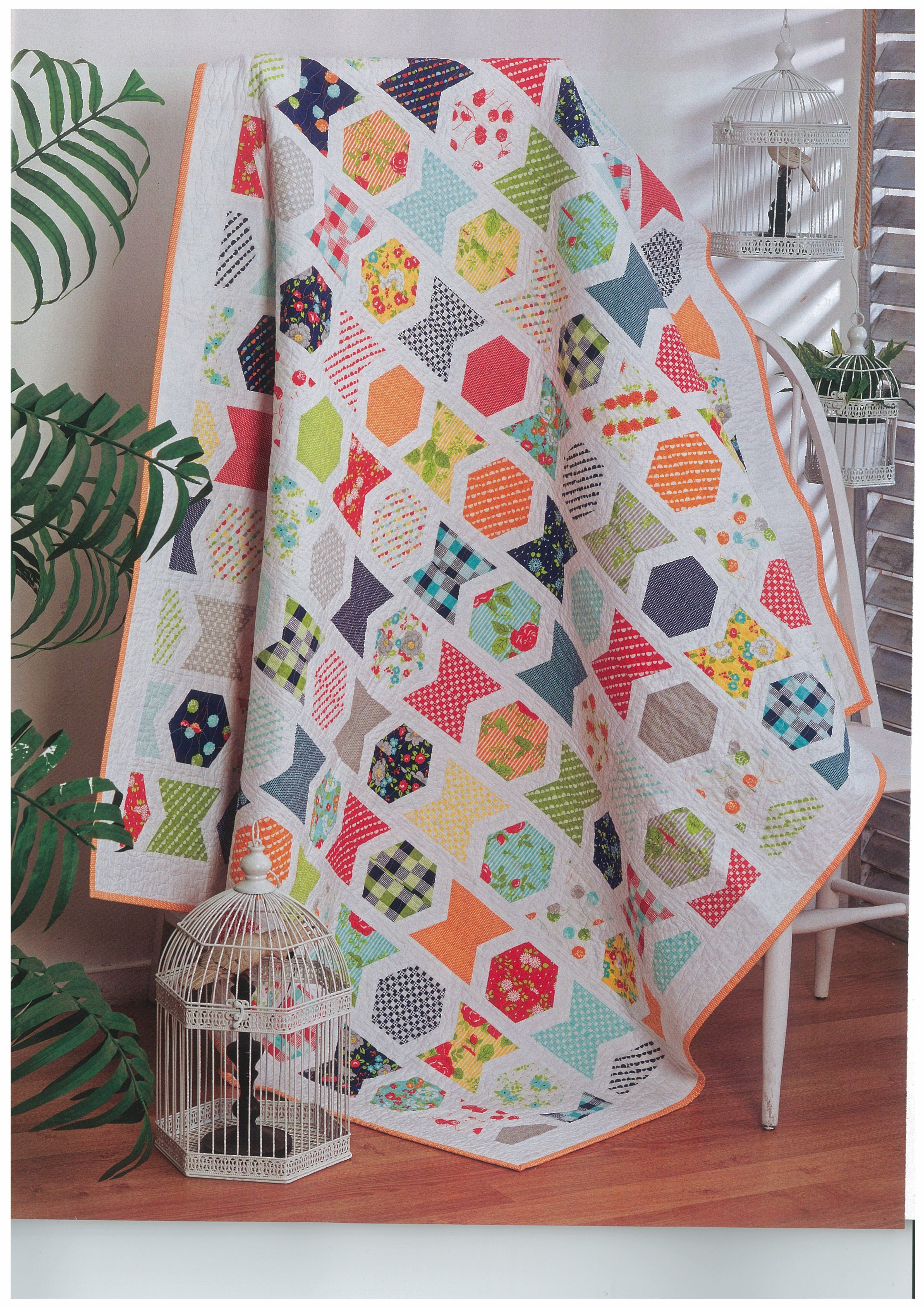 Love this quilt and it was such fun to make, love the fabrics Happy Go Lucky from Bonnie & Camille