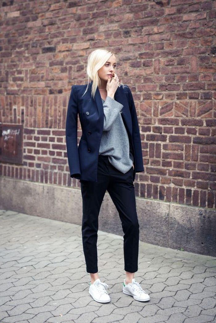 Veste grise femme habillee