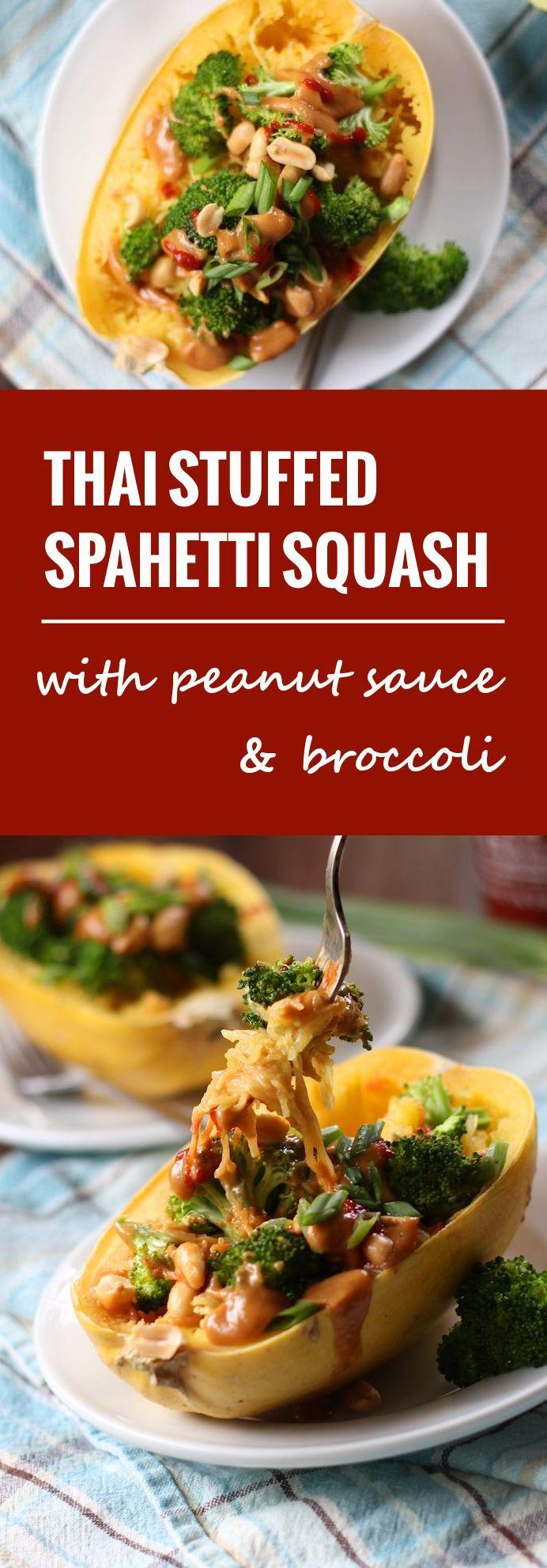 Thai Stuffed Spaghetti Squash - Connoisseurus Veg