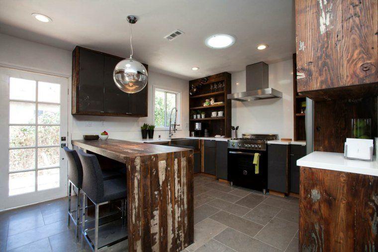Fabriquer un îlot de cuisine- 35 idées de design créatives - fabriquer sa cuisine en bois