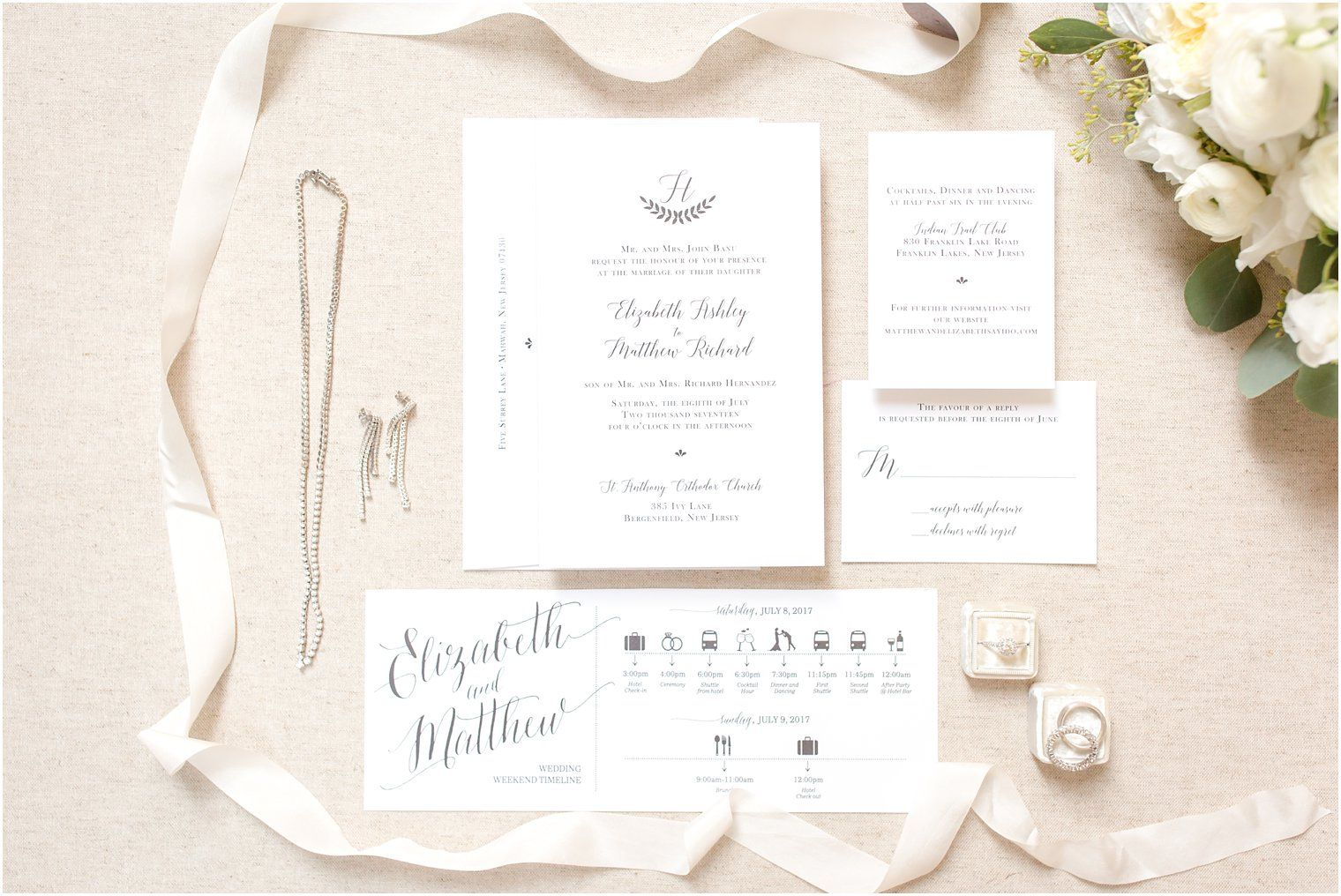 Include Wedding Timeline For Guests Hotel Checkin