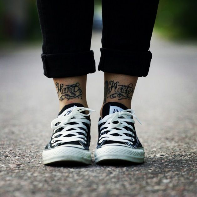 Ankle Text Tattoos Hand Made Front Ankle Tattoos Ankle Tattoo Text Tattoo