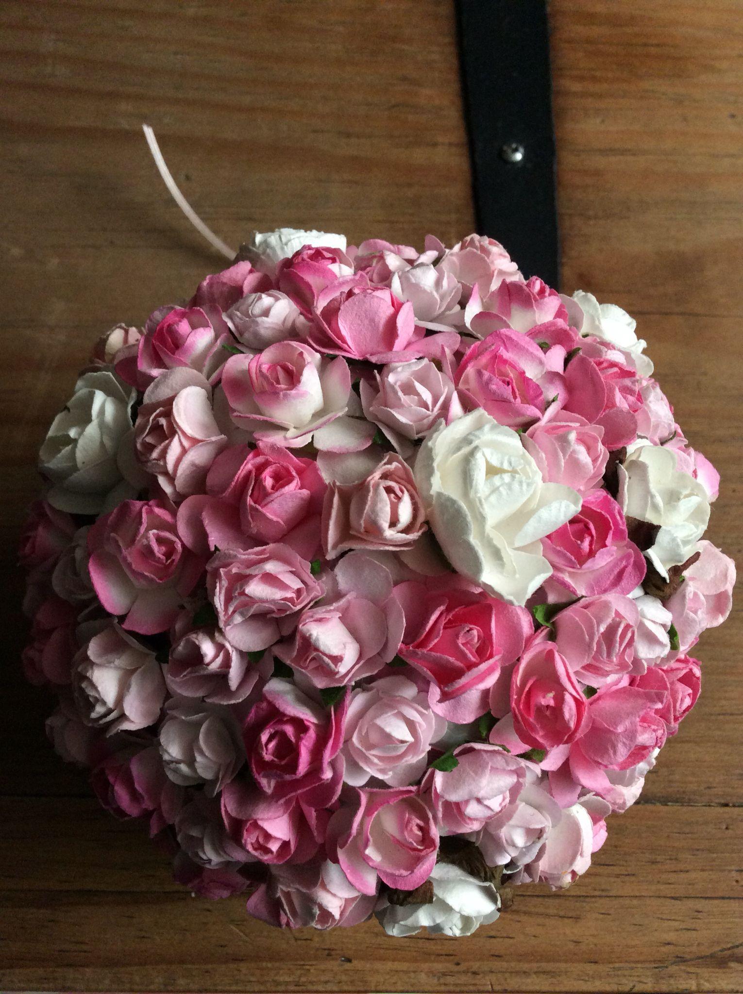 Topiario con flor de papel