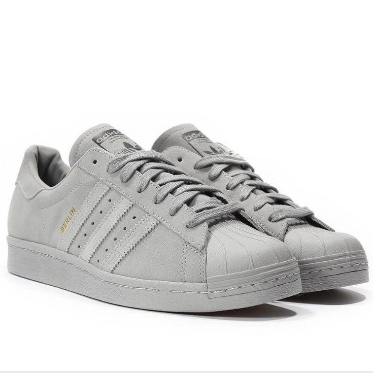 Adidas Superstar 80s Suede Gray Berlin