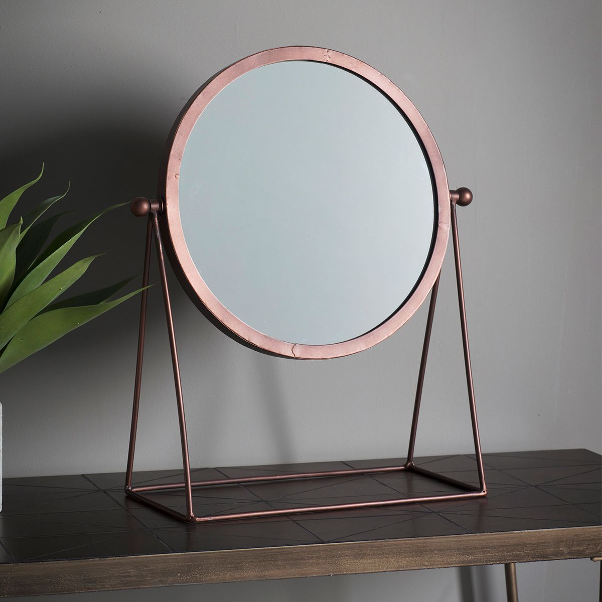 Gallery Direct Webber 36cm Dressing Table Mirror in Copper – Next ...