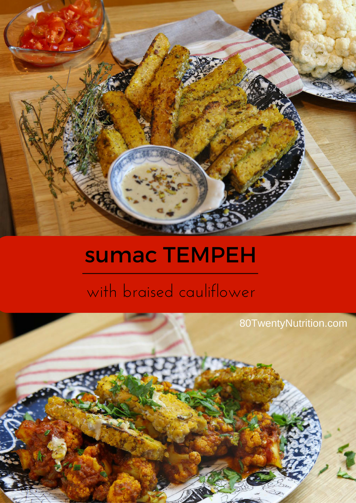 Sumac Tempeh With Braised Cauliflower Vegan Gluten Free