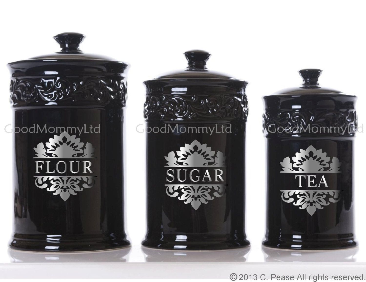 Kitchen Canister Decal Labels: