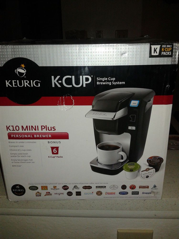 New Keurig K10 Mini Plus K Cup Brewer Coffee Maker Black K10