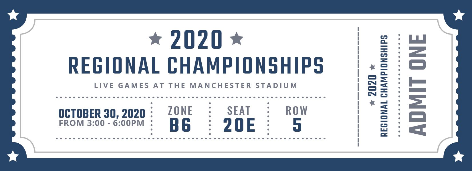Free Blank Sports Ticket Ticket template, Manchester