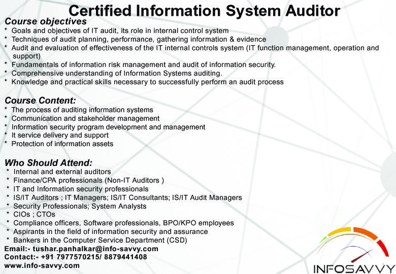 CISA Certified Information Systems Auditor | CISA (Certified