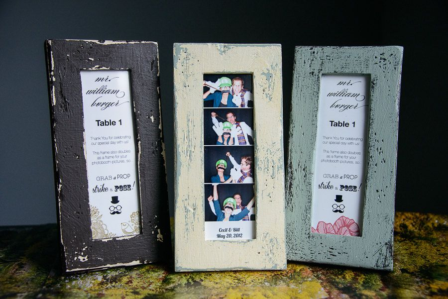 Photo Booth Picture Frame Distressed Wood for 2x6 PhotoBooth strips ...