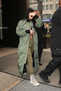 Kylie Jenner wearing Porsche Design P8433 Sunglasses, Elizabeth and James Cynnie…