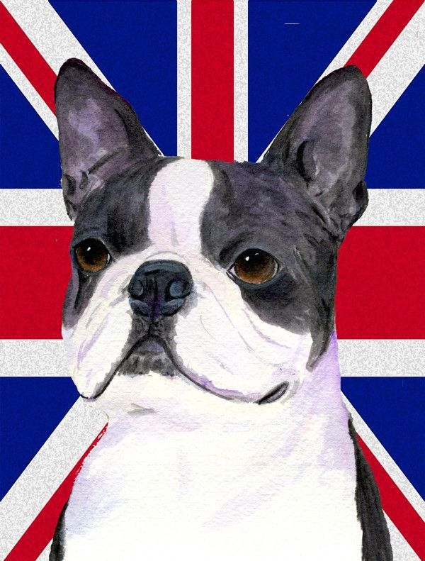 Boston Terrier With English Union Jack British Flag House Vertical Flag |  Products | Pinterest | House Flags, Flags And Products