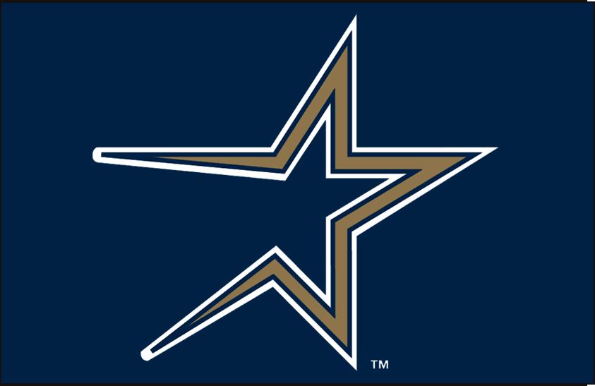 Houston Astros Jersey Logo 1997 A Gold Shooting Star