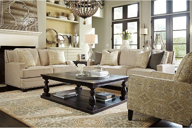 Ashley Furniture Fawn Cloverfield Chair View 3 Living