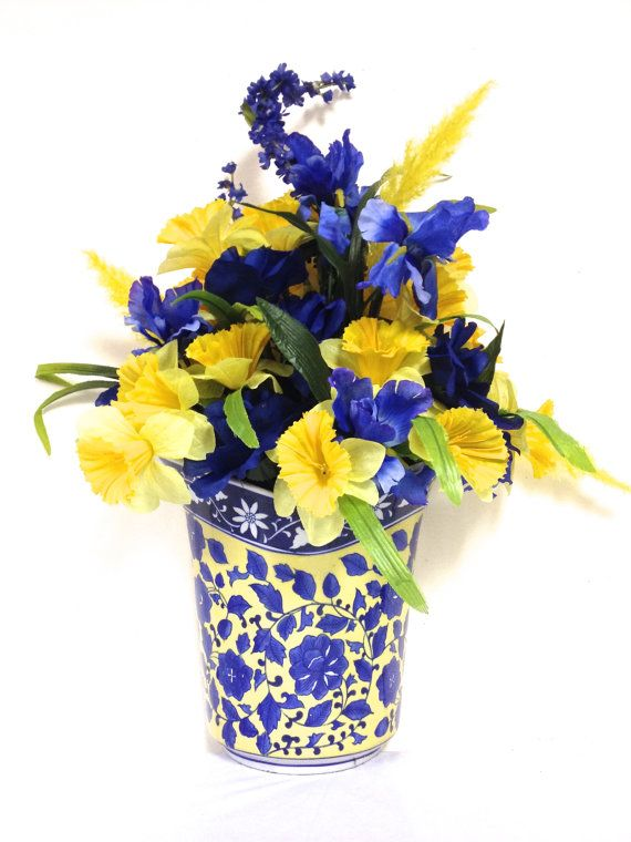 Spring Silk Floral Arrangement Floral Centerpiece or Wall Decor ...