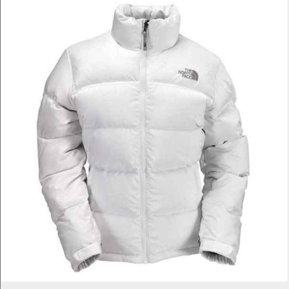 White North Face Nuptse Down Jacket Great for winter - so warm. Has some stains around the neck. North Face Jackets & Coats Puffers