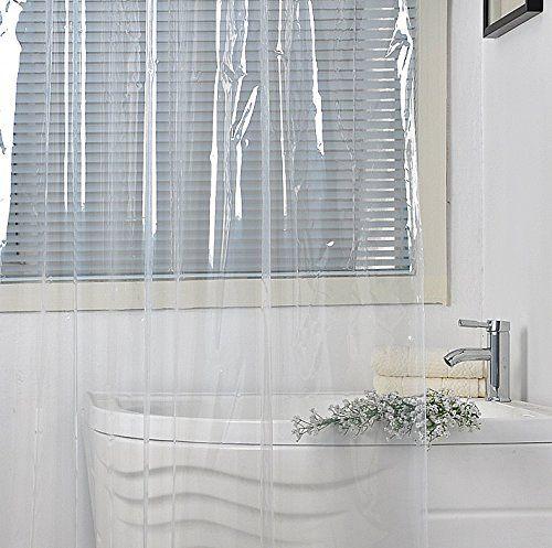 Ufriday Waterproof Peva Shower Curtain Liner Mildewresistant And