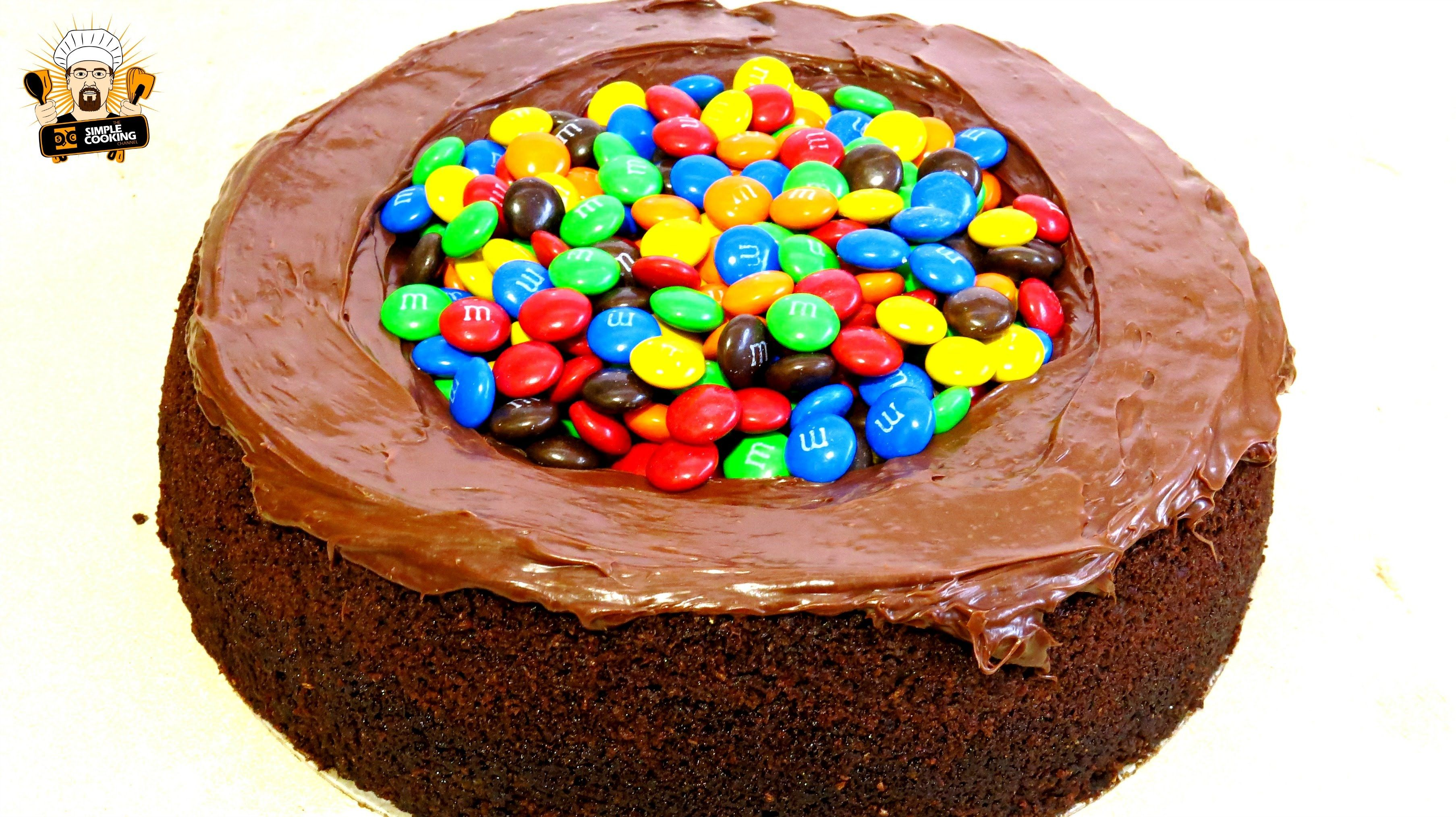 m and m cake tesco