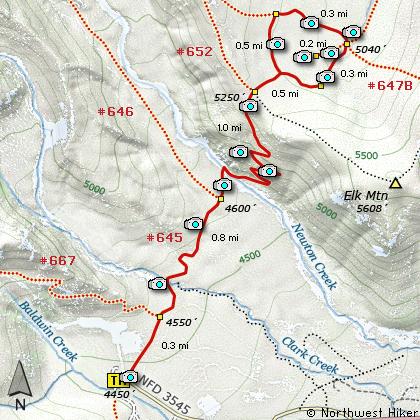 Hike Elk Meadows Oregon Pinterest Hiking Trail Maps And - Oregon hiking trails map