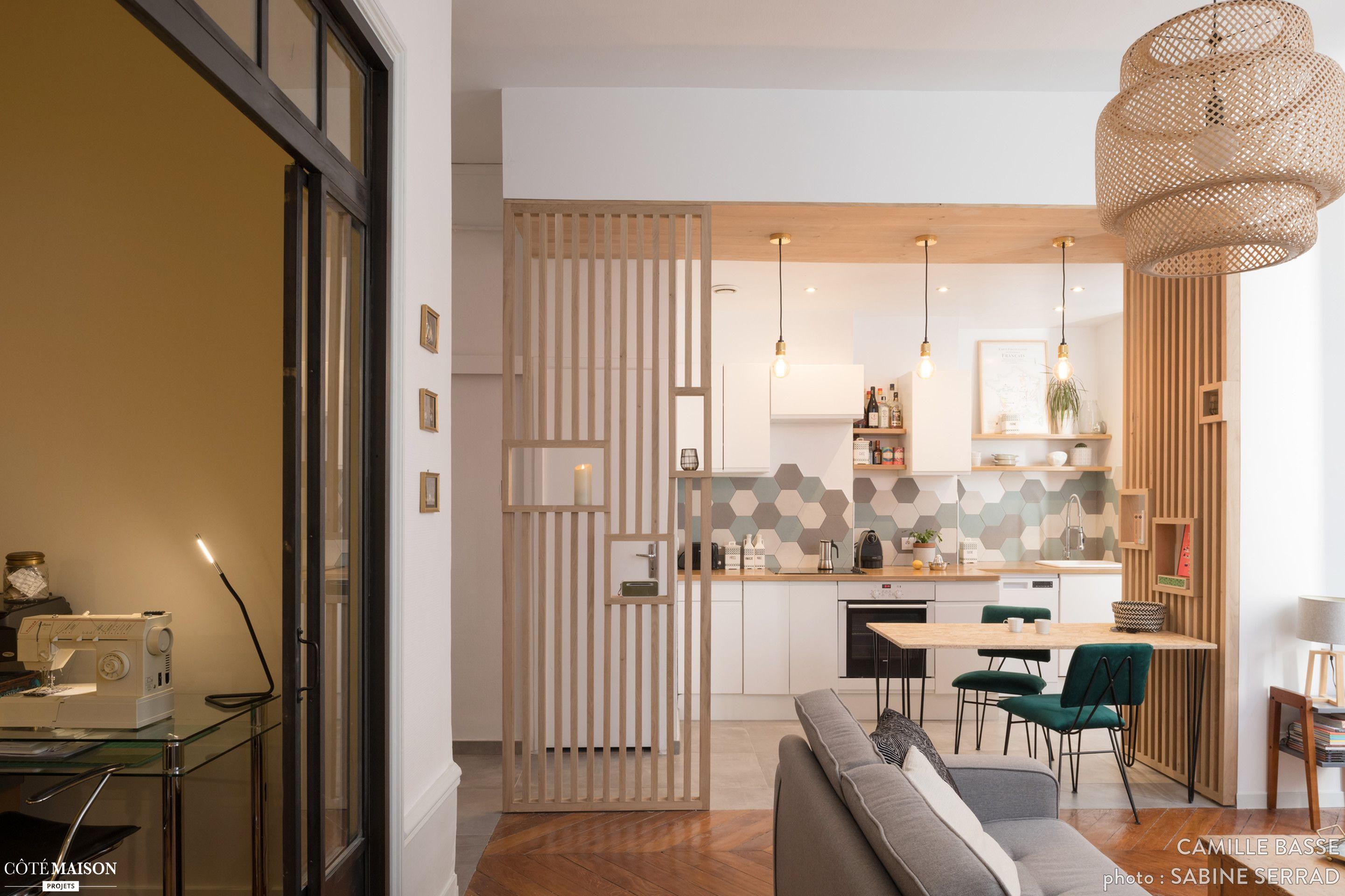 Projet Ouverture D Une Cuisine Sur Sejour Dans Un Appartement Des Pentes De La Croix Rous Studio Appartement Meuble Cuisine Ouverte Architecte Interieur Lyon