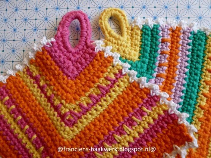 Pannenlappen Haken Simpel Patroontje Crochet Haken Pinterest
