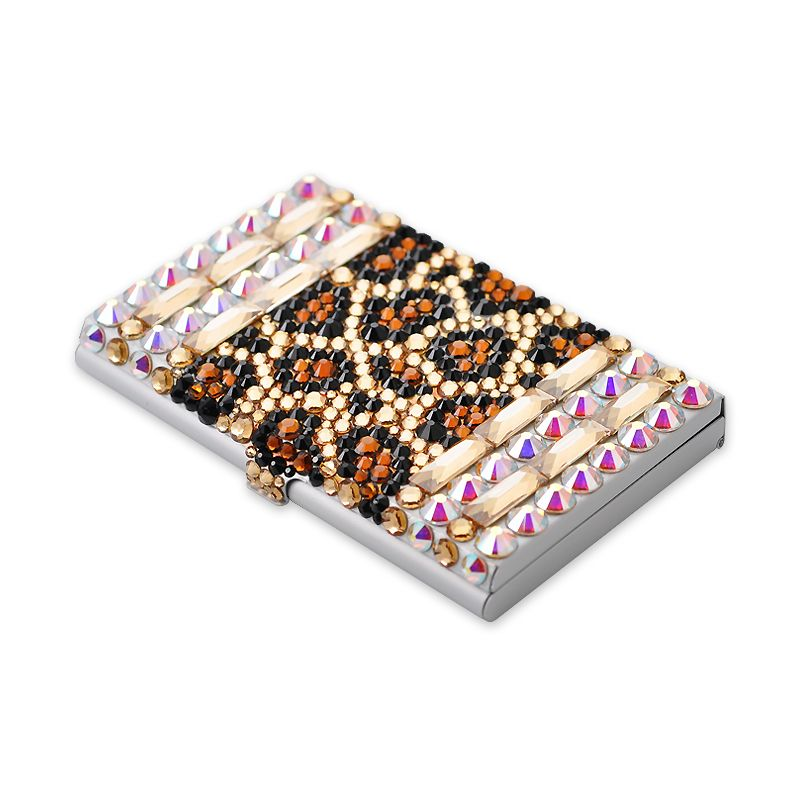 Leopard stripe crystal business card holder case crystal leopard stripe crystal business card holder case crystal swarovski cardholdercase http colourmoves