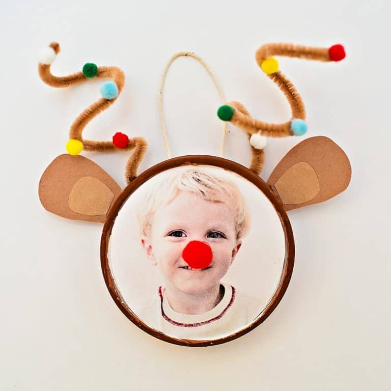 RUDOLPH REINDEER PHOTO ORNAMENT - Hello Wonderful #rendierknutselen