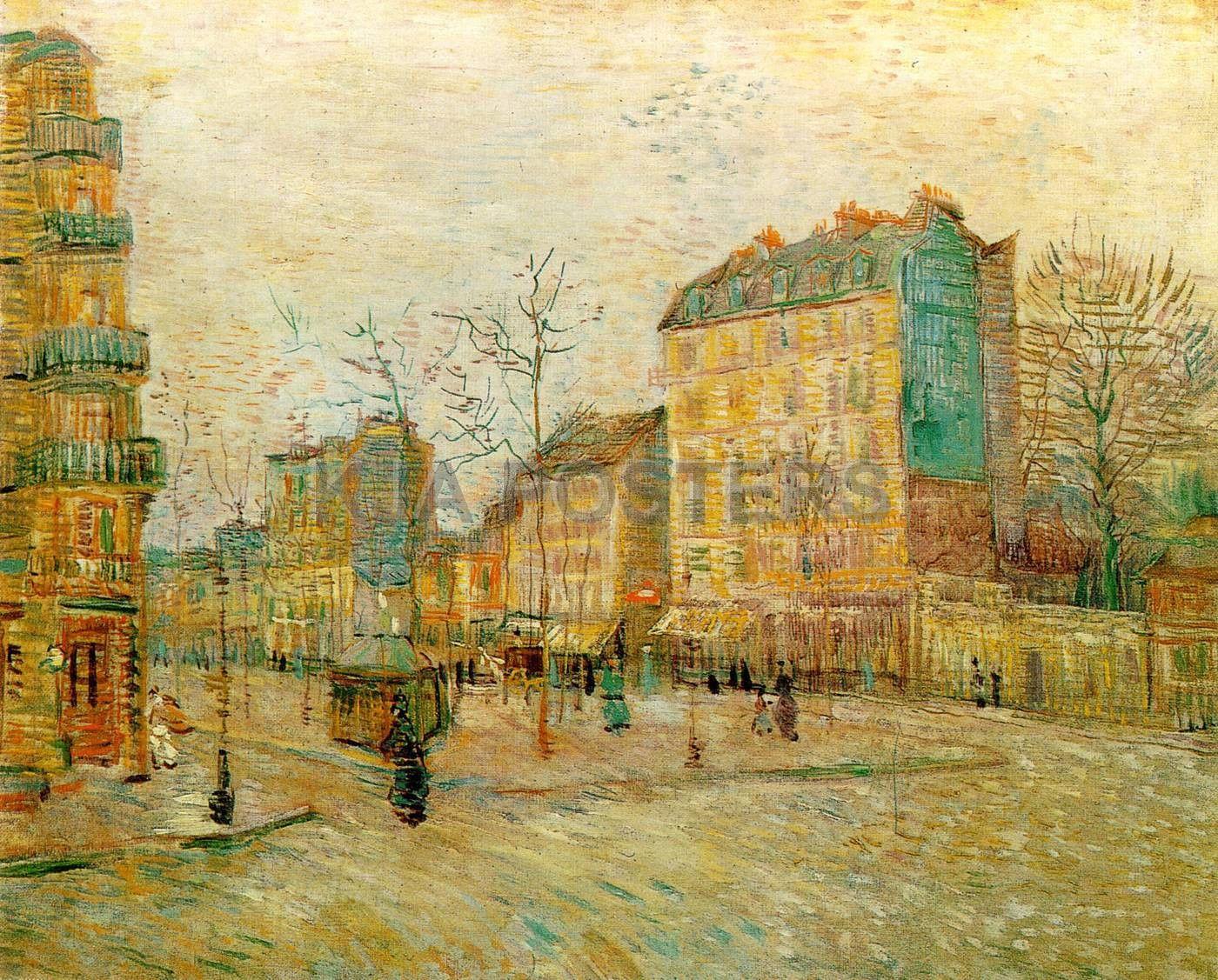Vincent Van Gogh The Boulevard De Clichy 1887