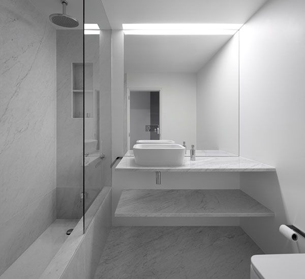 modern bathrooms by jo o tiago aguiar arquitectos ba o