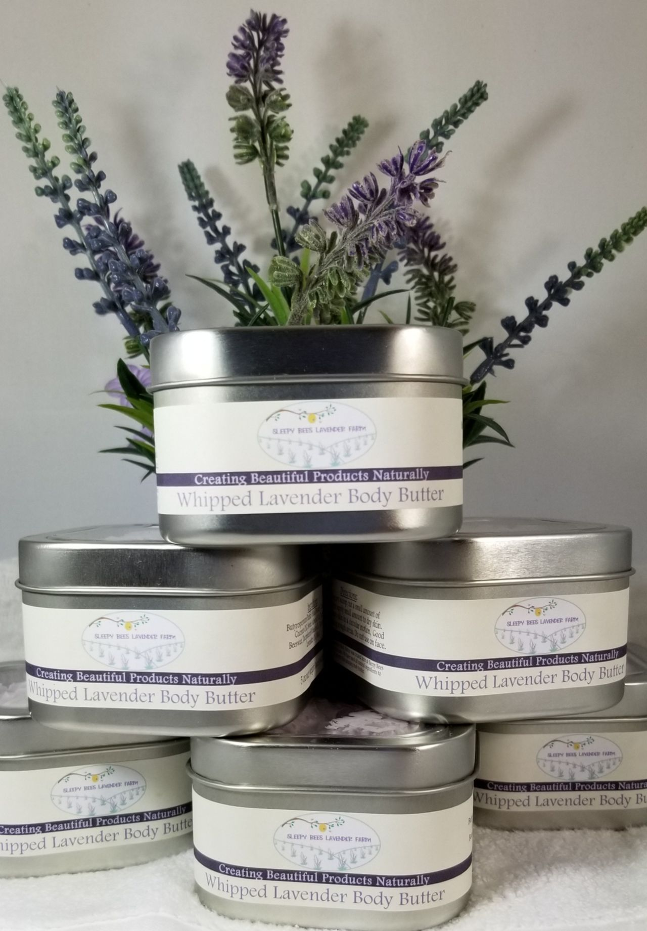 Our Lavender Whipped Body Butter is a decadent blend of