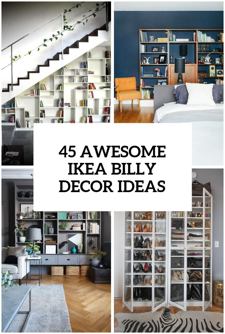 45 Awesome Ikea Billy Bookcases Ideas For Your Home Ikea Billy Ikea Billy Bookcase Billy Bookcase