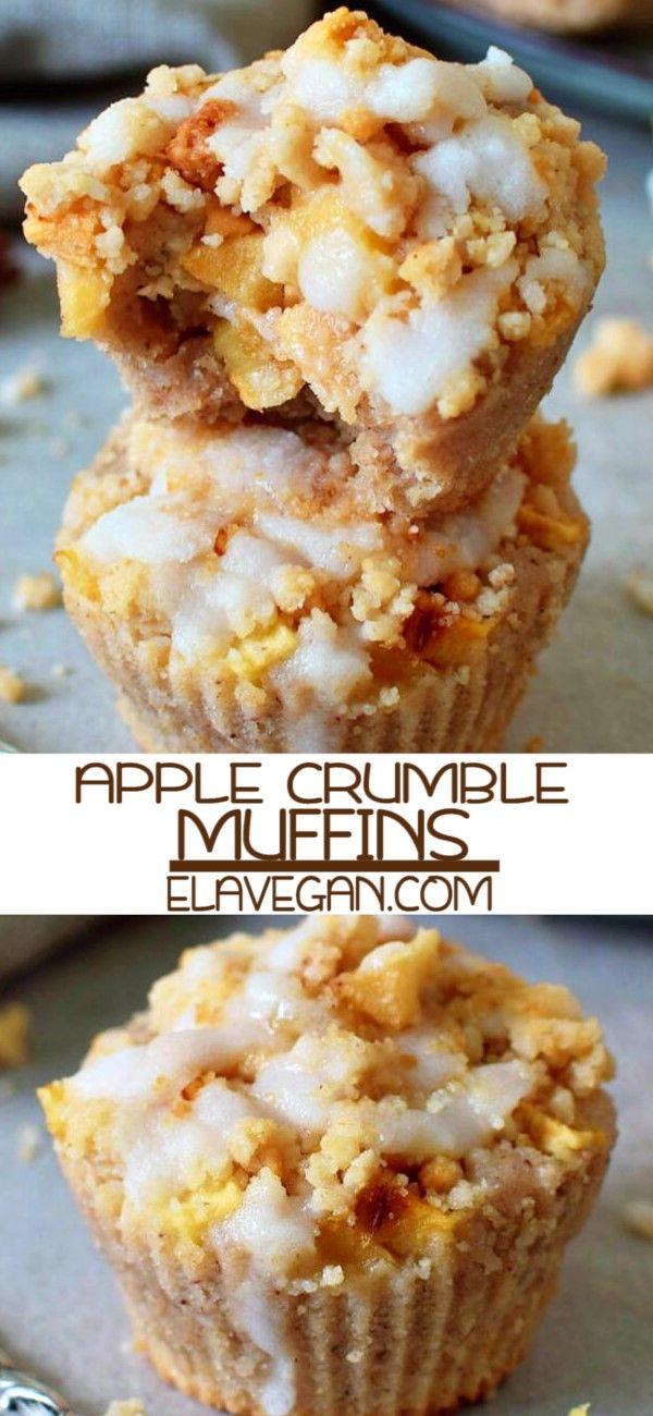 Apple Crumble Muffins #sugarfreedesserts