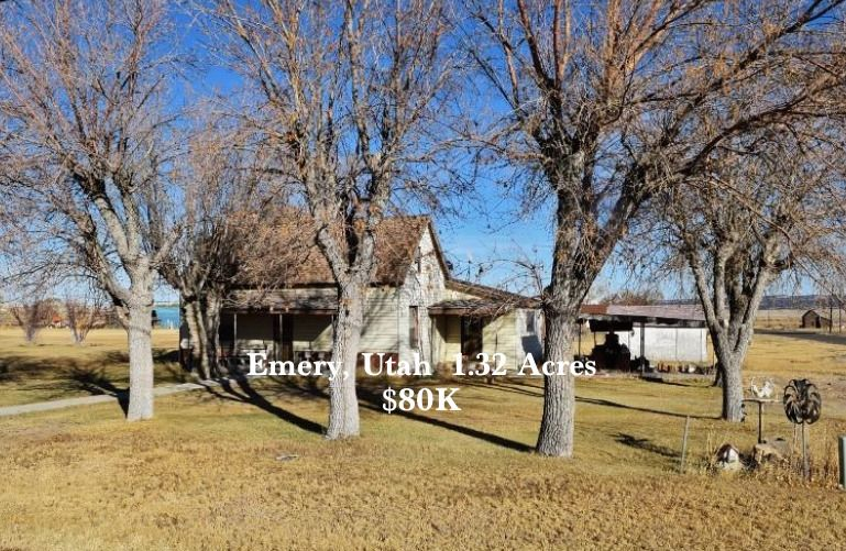 Under $100K Sunday ~ c.1896 Handyman Special on 1.32 Acre w/View in Emery Utah $80K - Old Houses Under $50K #cheapoldhouses #utahhomes #hobbyfarms
