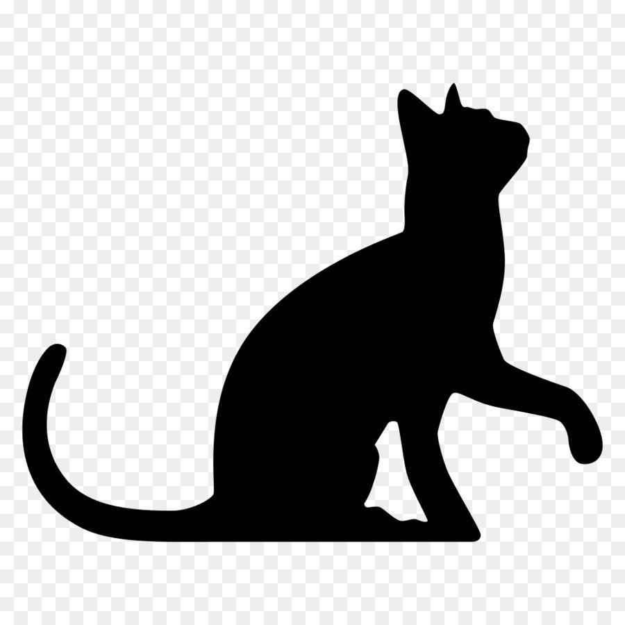 Black Cat Kitten Clip Art Cat Png Download 1000 1000 Free Transparent Cat Png Download Black Cat Silhouette Cat Silhouette Animal Silhouette