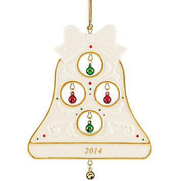 2014 Jolly Jingle Bell Ornament by Lenox