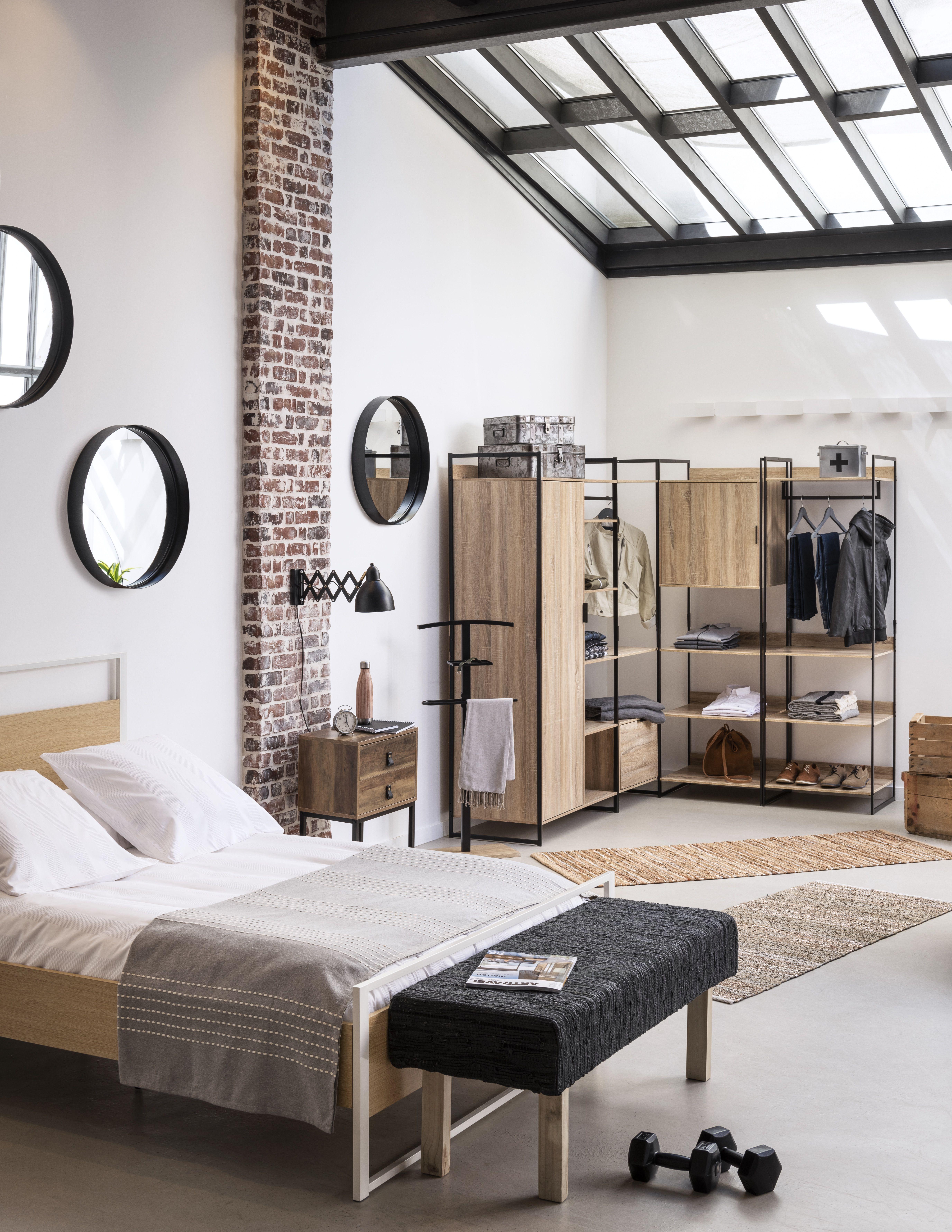 Epingle Par Gifi Sur Style Industriel Meuble Gifi Lit 2 Places Decos Maison
